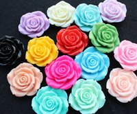 bathroom settings - 40pcs large mm Resin Rose Flower Cabochon Assorted Colors Great for necklace settings pendant and bezel trays XL large