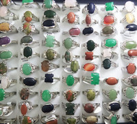 Wholesale Top MIX NATURAL STONE rings