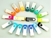Wholesale 128GB USB Plastic Swivel USB Flash Drives Pen Drives Memory Stick U Disk Swivel USB Sticks iOS Windows Android OS