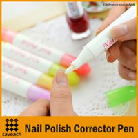 Wholesale Nail Art Corrector Pen Remove Mistakes Tips Newest Nail Polish Corrector Pen Cleaner Erase Manicure