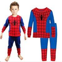 Wholesale 1 Baby Boys Spiderman Iron Man Toddler Pajamas Pyjama Sets Nightwear Homewear DH04