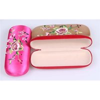 clam - New Brocade Flower Embroidery cm cm cm Size HARD Clam Shell Eyeglass Reading Glasses Case Christmas gift
