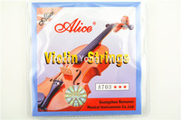 Wholesale 1 set Violin String high quality violin strings pieces E A D G for Size Alice A703