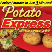 baking potatoes - Potato Express Microwave Cooker Cooking Tools Baked Package Bag Steam Pocket Kitchen Gadget Rushed Cozinha Free DHL Factory Direct