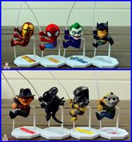 alien c - NE Scalers Mini figures set cord cable deco Spider Batman Ironman Alien Predator Joker Fredd Jason C A gifts