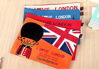 Cheap Wholesale-Wholesale Fashion Stationary school supplies england flag pencil bags canvas pencil case 33*24cm free shipping