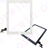 Wholesale For iPad Display New front LCD Touch Screen Digitizer Lens Black and White