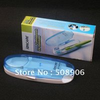 Wholesale Home Healthy Double UV Sterilization Toothbrush Disinfection Box Case Cover Holder Box Portable Battery New
