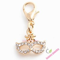 Wholesale charm masquerade dangle charm fit floating locket earring ring bracelet key chain or necklace jewelry accessories best gifts