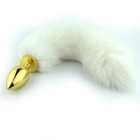 Wholesale Adult Metal Anal Butt Fox Tail Plug Sex Toys