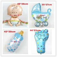 baby boy strollers - baby shower globos party baby boy balloons foil decoration Birthday Party Decoration baby stroller baloes