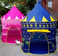 Wholesale top hot Baby Lovely Prince Princess Palace Castle Children Play Tent Toy Outdoor Toys Kids Gift