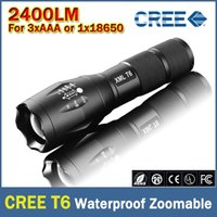 Wholesale DHL G700 E17 CREE XML T6 Lumens High Power LED Torches Zoomable LED Flashlights torch light for xAAA or x18650 battery
