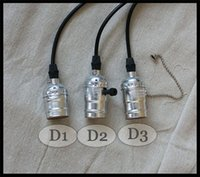 incandescent bulb - Vintage Pendant Light Bulbs Holder Wire Cable E26 E27 Edison Bulb Hanging lamp V V V V V silver bulb sockets base Minimalist