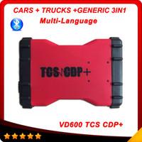 Cheap DHL free VD600 TCS CDP+ OBD2 newest Bluetooth V2014.02 VD 600 TCS CDP PRO+ 3 in 1 LED keygen DHL free