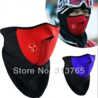 Wholesale Motorcycle Mask Snowboard Snowboarding Bicycle Bike Half Face Protective Helmet Mask For Men and Women Red Blue Black M51593