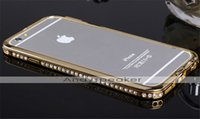 Wholesale 20pcs Luxury Crystal Rhinestone Diamond Bling Metal Bumper Case for iphone S plus Cell Phone Cases No Package Colorful