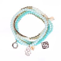 strands of glass beads - Joly Glass Beads Bracelets Set Zirconia for Women set of Combined Colors