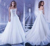 Wholesale 2014 New Design Beaded Crystal Stone A Line Elegant Custom Made Wedding Dress Bridal Gowns Wedding Dresses q259