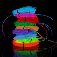 Wholesale 2017 Meter EL Wire w Controller Multi Color Neon EL Led Flexible Wire Cuttable And Joinable Clothes Ornaments Car Decoration