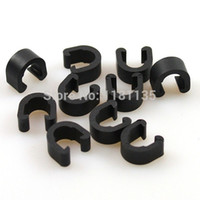 hose clip - New C Clip Cable Housing Hose Guide For MTB Road Folding Bike Nylon Black