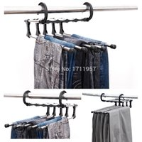 Wholesale Hot Sale in Magic Trousers Hanger Multifunctional Pants Racks Closet Hangerrack Practical And Convenient Household Products