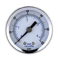 air compressor mount - 0 PSI Pressure Diagnostic tool Accurate Manometer Hydraulic Pressure Gauge quot NPT Air Compressor Back Mount quot Dial Plate