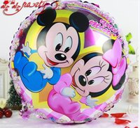 best baby stores - New Inch Mickey Balloon Colorful Foil Balloons Birthday Day Party Decoration Best Toy For Baby Kids Store Decor Best Quality