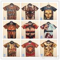 cartoon print t-shirt - 2015 New Fashion Men s D t shirts Print Cartoon Anime Men s Clothing shirts For men boys Summer Casual woman Pharaoh mask