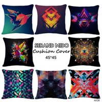 Wholesale New Pillow Case Cotton Linen Luxury Pattern Printing Designs Cartoon Style Comfortable Square Home Decor Throw Decor Free Postage P