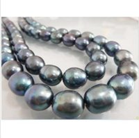 Wholesale 35 quot hugeAAA11 mm Natural south sea baroque south sea black pearl necklace k