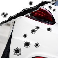 Wholesale Bullet bullet hole car stickers personalized car stickers fun stickers bullet hole stickers affixed scratches shelter