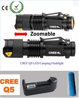 Wholesale 2000 Lumens Lanternas Led Torch CREE XM L Q5 Led Flashlight Torch Rechargeable With Charger Linternas Powerful Lights