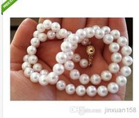 wholesale akoya pearls - classic good luster mm akoya natural white pearl necklace inch