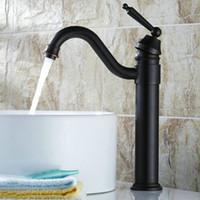 Wholesale Oil Rubbed Black Bronze Antique Copper Basin Faucet Fashion Hot Cold Mixer Sink Tap Bathroom Faucets