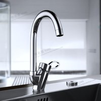 bathroom fittings and accessories - Bathroom Accessories Copper Chrome Plated Kitchen Faucet Hot And Cold Can Rotate KItchen Basin Faucet