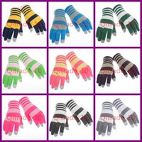 Wholesale 500PAIR LJJH1055 Winter Knitted iglove Ipad iPhone Screen Touch Gloves outdoor hand wrist fitness gloves for women and men