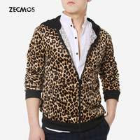 designer jackets for men - Fall Swag Leopard Hooded Jackets Men Outwear Jackets For Boys Mens Winter Jackets And Coats Motorcycle Sports Designer Fashion Zipper