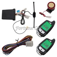 Wholesale In Stock Two Way Motorbike Alarm With Remote Engine Start Long Remote Distance Colorful Lcd Display Shock Alarm