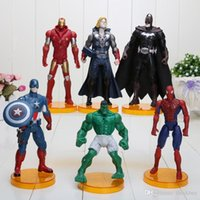 Wholesale 6 quot cm The Avengers Captain America Iron Man Thor Spiderman Batman Hulk Action Figures Toy