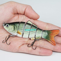 Wholesale 4 colors Peche Fishing Lure Segment Swimbait Hard Bait Slow g cm With Fishing Hook Fishing Tackle New Fashion