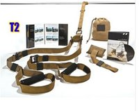 Wholesale Deluxe T2 Military Version band Exercise Rope personal Training kit t T1 Trainer Freeshipping via DHL