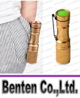Wholesale Mini CREE XPE LED Flashlight LED Torch Rechargeable AA Battery Self Defense Camping Lanterna Linternas Tactical Penlight LLFA4744F