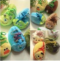 Cheap Hot Soft Mini Cute Cartoon Totoro Monsters Inc. Pig Bear Shoes Style Coin Cases Key Purse Storage Birthday Gift 41771377805 201501hql