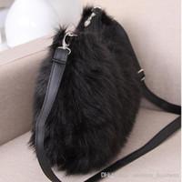 fashion handbag wholesale - New Style Fashion Handbag Totes Women Bag Plush Winter Bag Lady Shoulder Bag LY R04
