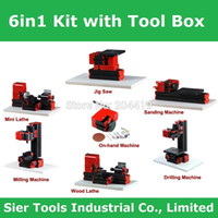 mini lathe - Tool Box Type in lathe Z6000Z DIY lathe kit in1 mini machines W rpm didactical machine kit in1 with tool box