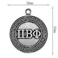 charms slides sliders letters numbers wholesale antique silver plated alloy greek letter charms round