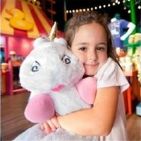 Cheap 1pcs 60cm 24inch Despicable Me 2 American Movie Fluffy Unicorn Plush Pillow Toys Stuffed Animal Doll Figure Birthday Gift for Girls