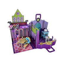 Wholesale Monster elves high doll D scenes puzzles for Monster high doll house not including the doll
