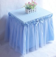 bedside table skirts - bedside table decoration cover Romantic sweet tablecloth cotton lace yarn princess table skirt wedding decor customizable